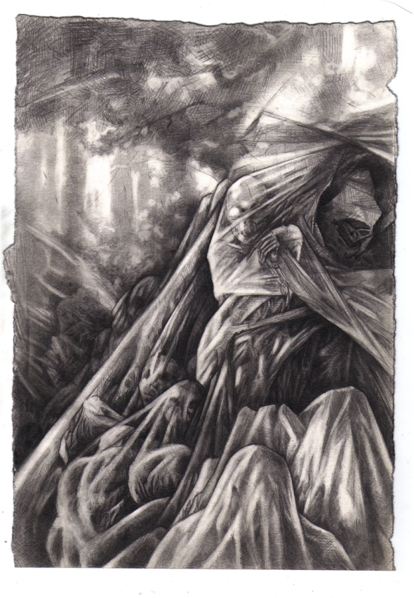 Mulch - Pencil Drawing - P. Emerson Williams
