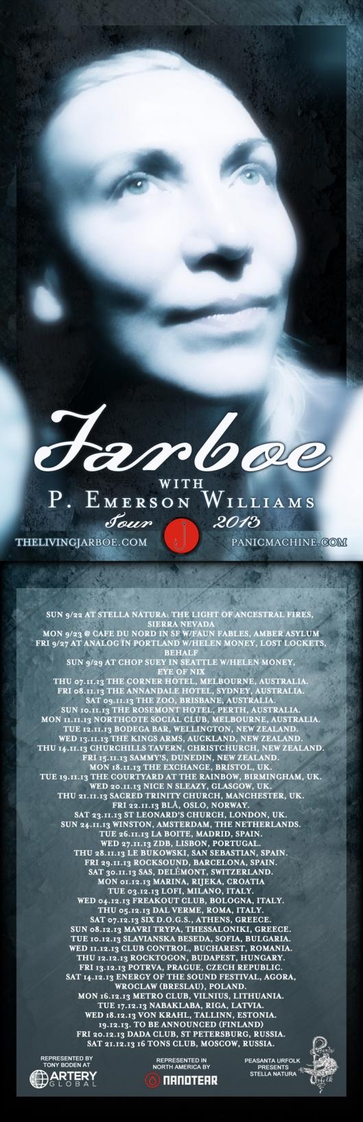 Jarboe & P. Emerson Williams Tour 2013